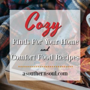 Cozy find for your home buying guide along with comfort food recipes that will make you happy all winter long!