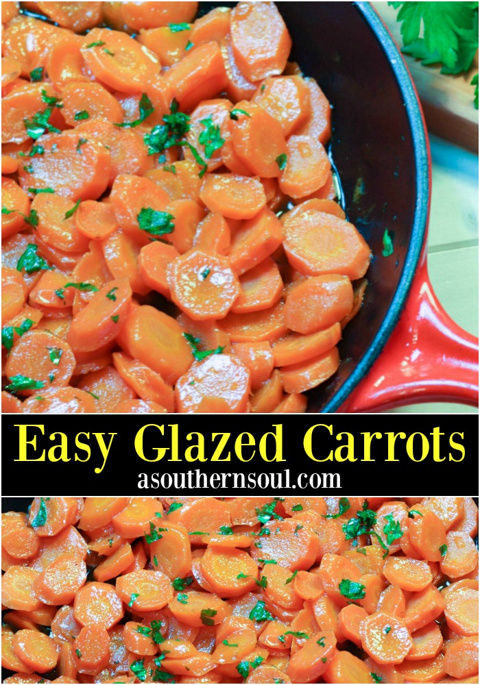 Beautiful, glazed carrots with honey and butter are easy to make but make a statement on any holiday table! They are so hard to resist, you'll make them all year round.