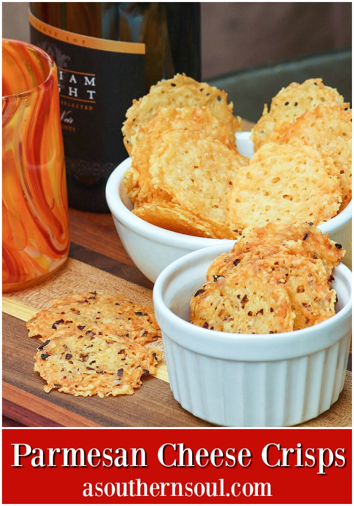 Make these Parmesan Cheese Crisps as soon as you can because not only are they amazingly yummy but they also can be served with almost everything!
