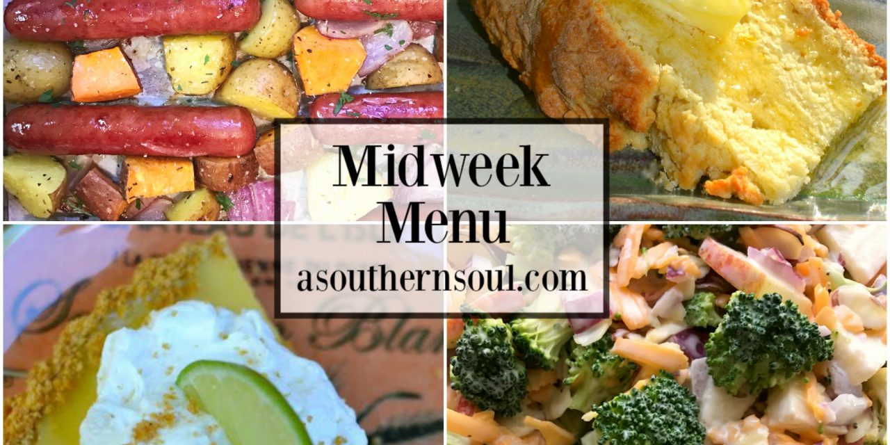 Midweek Menu #40 ~ Sheet Pan Brats & Potatoes