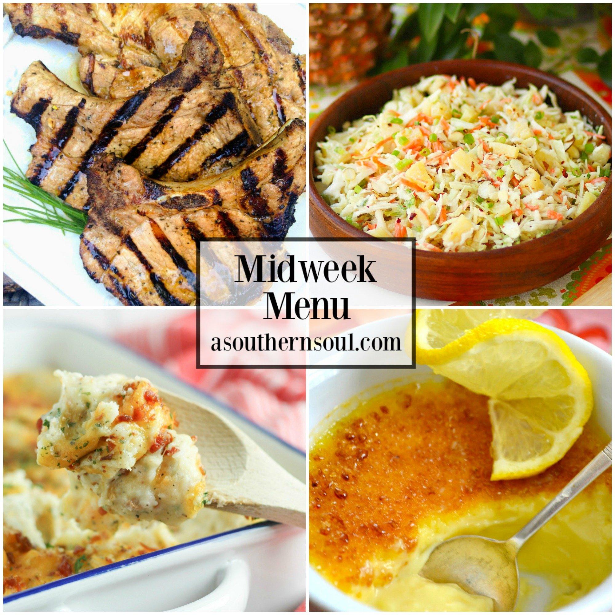Midweek Menu #44 - Marinated Grilled Pork Chops