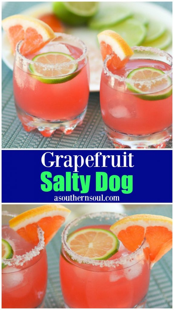Salty Dog made with grapefruit juice, vodka is served in a glass with a salted rim is refreshing and fun to drink!