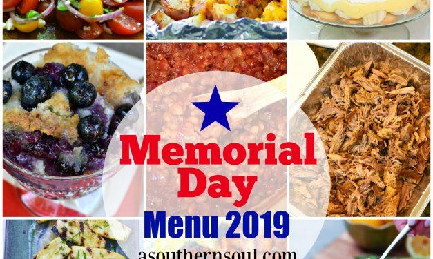 Memorial Day Menu 2019