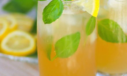 Bourbon Basil Lemonade