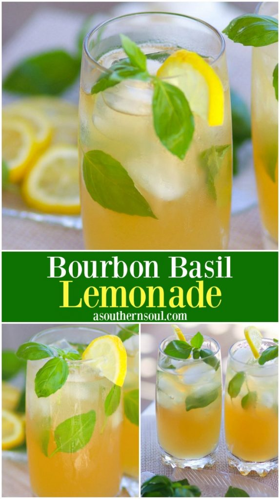 Lemonade made extra special with basil and bourbon is a drink perfect for derby day or to sip on any time of the year!