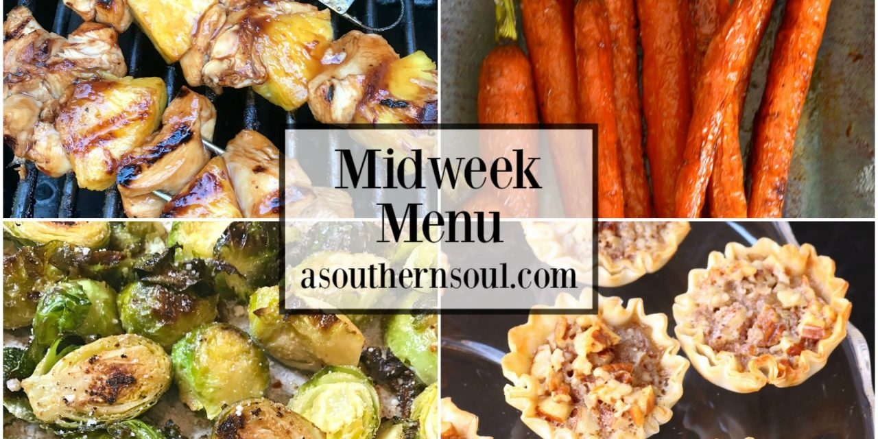Midweek Menu #52 – Grilled Chicken Pineapple Skewers