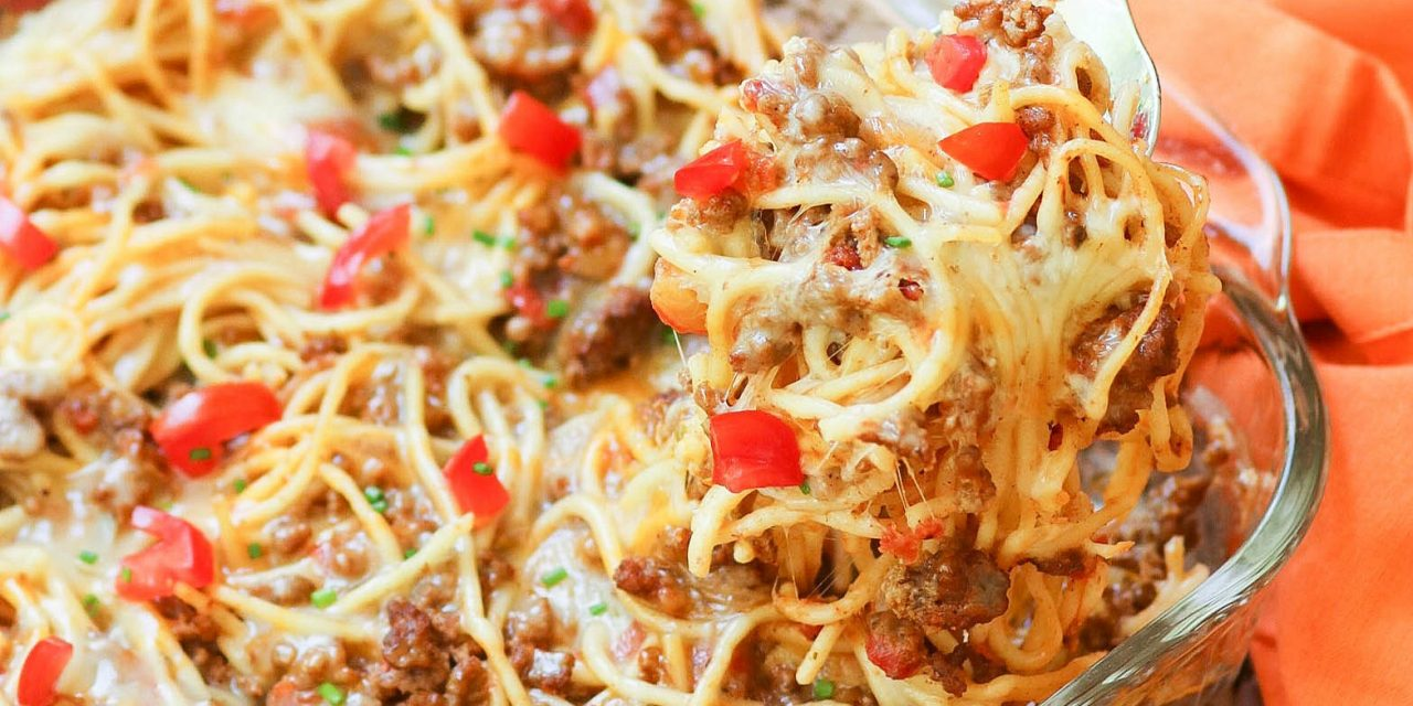 Taco Spaghetti Bake