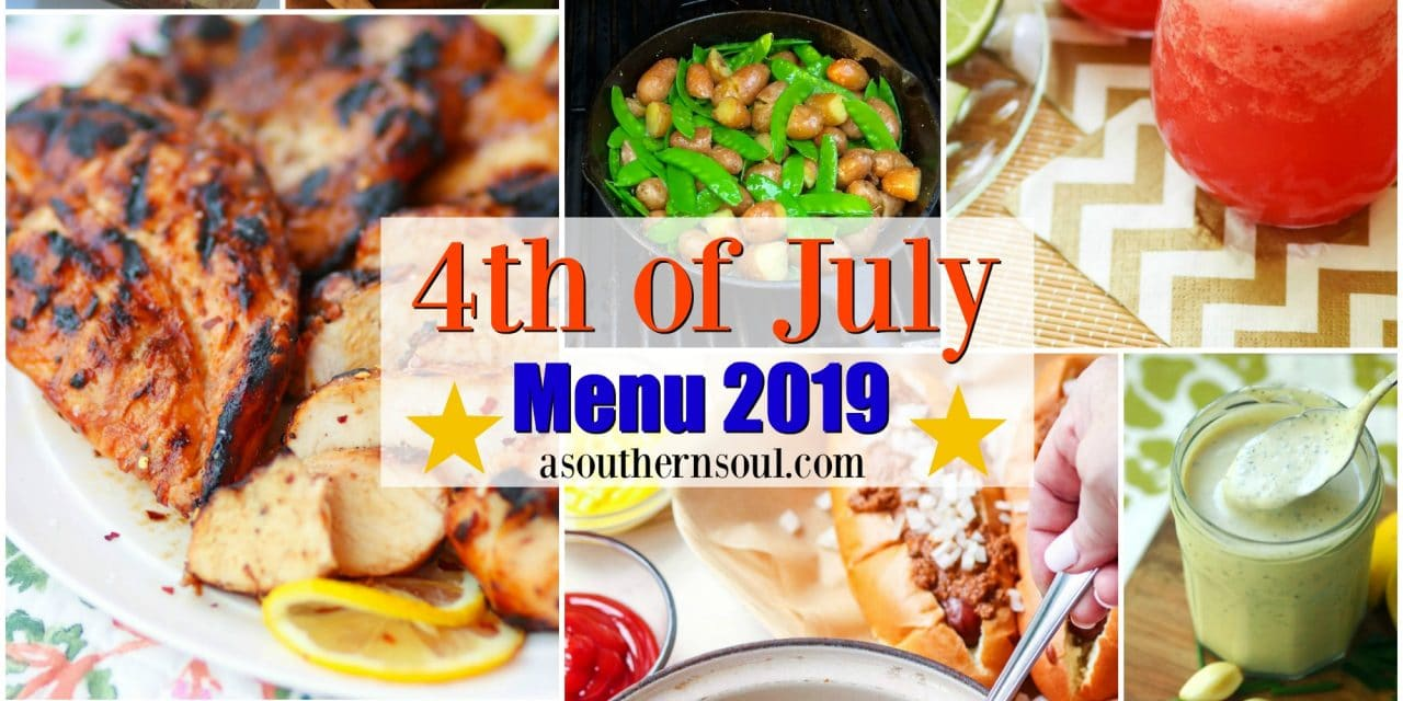 Midweek Menu – 4th of July Menu 2019