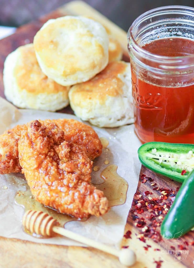 Hot honey is sweet with a spicy kick. It's simple to make and crazy delicious drizzled over chicken, biscuits, cornbread, pizza or used in iced tea and vinaigrette.