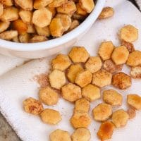 Cinnamon Sugar Crackers made with butter, cinnamon and sugar is a sweet treat to satisfy your sweet tooth!