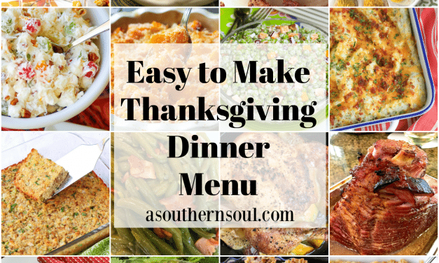 Easy To Make Thanksgiving Dinner Menu