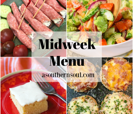 Midweek Menu #81 – English Muffin Pizzas