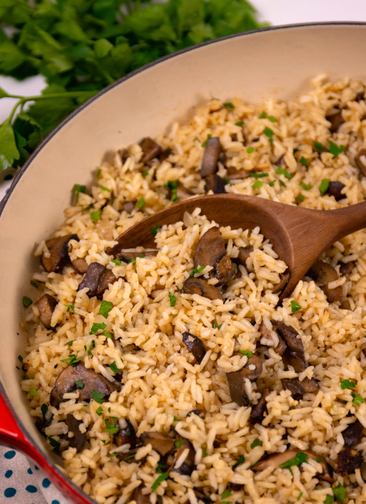 One Pot Mushroom Rice