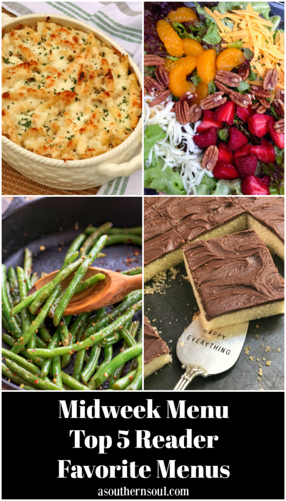 Midweek Menu Top 5 Readers Favorite Menus features easy to make recipes your family will love!