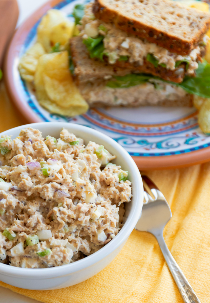 All Time Best Tuna Salad is simple to make! Made with tuna, celery, onion, eggs and mayonnaise then seasoned perfect. This will become your go-to recipe for the All Time Best Tuna Salad!